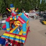Hüpfburg Klatschender Clown Miete