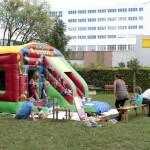 Hüpfburg Zirkus mit Rutsche mieten