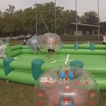bubble soccer mit fussballfeld mieten